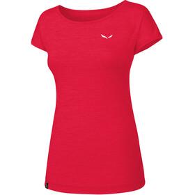 Salewa Puez Melange Dry Maglietta a maniche corte Donna rosso